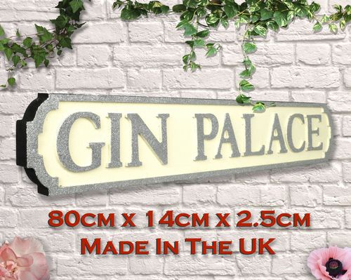 Gin Palace White and Silver Glitter